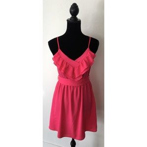 Lush Hot Pink Dress w/ adjustable spaghetti straps